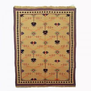 Kilim Wool Handwoven Woollen Dhurrie Durry Rug Jute Floor Covering Pattern 5
