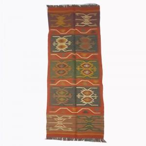 Kilim Handwoven Wool Woollen Dhurrie Durry Rug Jute Floor Runner Hallway Pattern 8