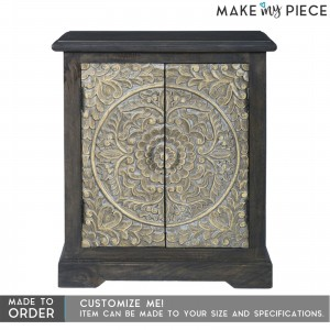 Paris Carved Sideboard Small Cabinet Black