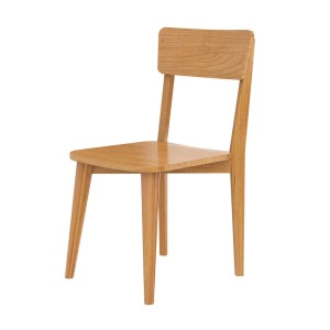 Indian Teak Wood Modern Style Dining Seating Chair Natural