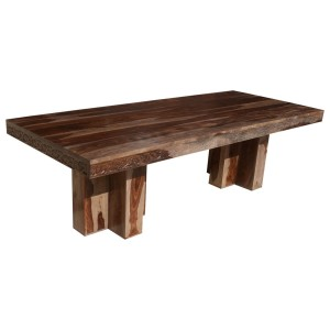 Dallas Ranch Rustic Solid Wood Double Pedestal Large Dining Table