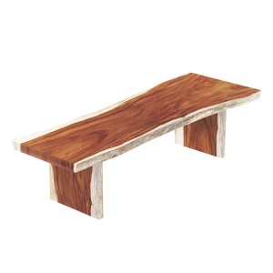 Auburn Solid Wood Single Slab Live Edge Large Dining Table