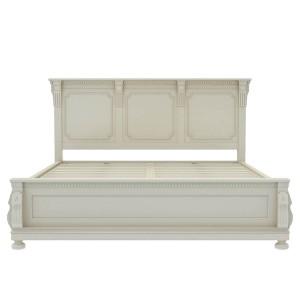 Blanc Indian Solid Wood Platform Bed White