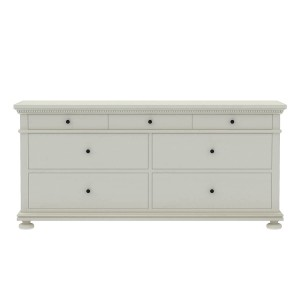 Blanc Indian Solid Wood Chest Of Drawers With 7 Drawer Large Bedroom Dresser