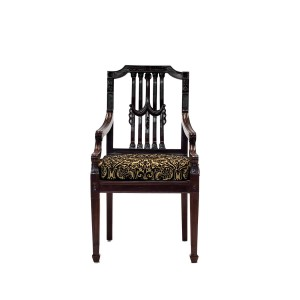 Indian Solid wood Hand Crafted Dining Seating Chair Chocolate Brown