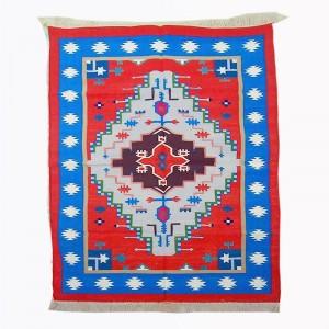 Kilim Wool Handwoven Cotton Dhurrie Durry Rug Jute Floor Covering Pattern 10