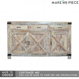 Metal Factory Industrial Sideboard Whitewash