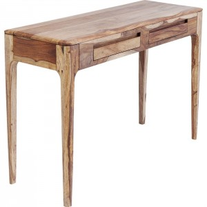 Boston Taper Contemporary Solid Wood Laptop Console Table Natural 110 cm