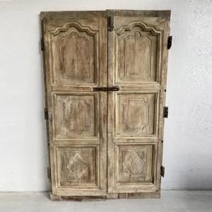 Indian Antique Old Door Solid Wood Doors Set Natural 170cm