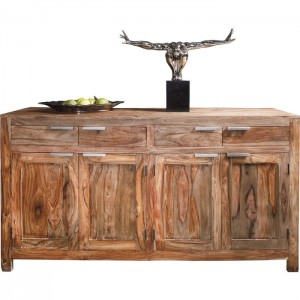 Boston Silver Contemporary Solid Wood Sideboard Honey colour 180 cm