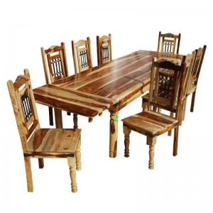 Classic Solid Wood Extendable Dining Table & Chair Set Natural