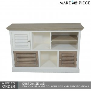 Contemporary Shutter Solidwood Sideboard White 1.3M