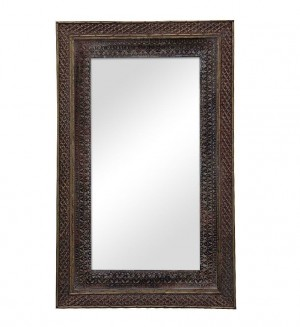 MADE TO ORDER Maharaja Indian Wooden Mirror Frame 100x160 cm