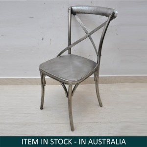 Industrial Metal Iron Silver Nickle Chair