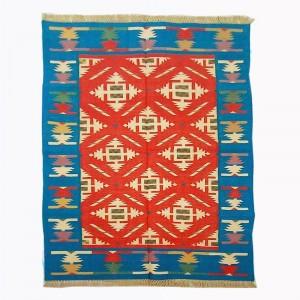 Kilim Wool Handwoven Cotton Dhurrie Durry Rug Jute Floor Covering Pattern 12