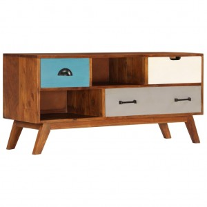 AVALON Solid wood 3Drawer Tv Unit Multi Colour 110cm