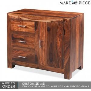 Sheesham wood 1 Door 3 Drawers Sideboard