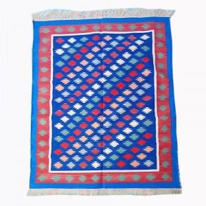 Kilim Wool Handwoven Cotton Dhurrie Durry Rug Jute Floor Covering Pattern 13