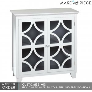 French Style Arched Glass Door sideboard White