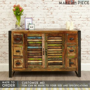 ASPEN Industrial Metal Reclaimed wood Sideboard
