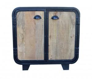 MILLER Industrial Timber Wooden  LOFT Cabinet