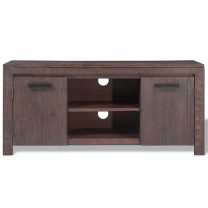 AVALON Solid wood 2 Door Tv Unit Brown 120cm