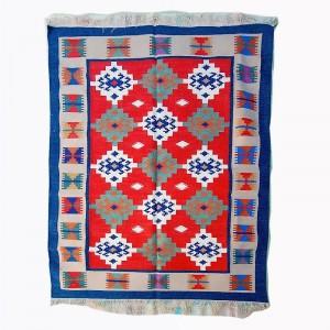 Kilim Wool Handwoven Cotton Dhurrie Durry Rug Jute Floor Covering Pattern 15