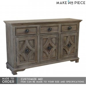 Contemporary Solid wood Timber Sideboard Brown