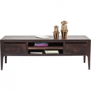 Boston Taper Contemporary Solid Wood Tv Unit Walnut 145x50x50cm