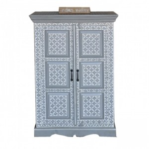 Pandora Bone Inlay Hand Painted Cabinet Grey