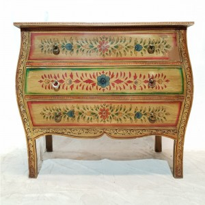Beautiful Indian Hand Painted 3 drawer dresser chest of drawers sideboard vanity