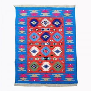 Kilim Wool Handwoven Cotton Dhurrie Durry Rug Jute Floor Covering Pattern 20
