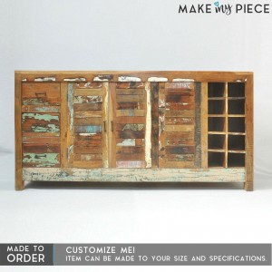 Nirvana Recycled Reclaimed wood Large Sideboard 180cm