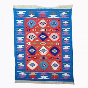 Kilim Wool Handwoven Cotton Dhurrie Durry Rug Jute Floor Covering Pattern 21