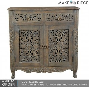 Jali Hand carved solid hard wood sideboard
