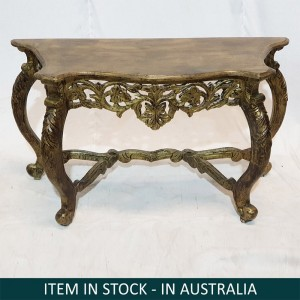 Hand Carved Ornate Baroque Console Table Hall Table Half Round Console Golden