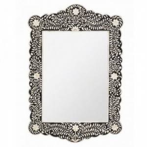 Maaya Bone Inlay Mirror Frame - Floral Design 70x5x90cm