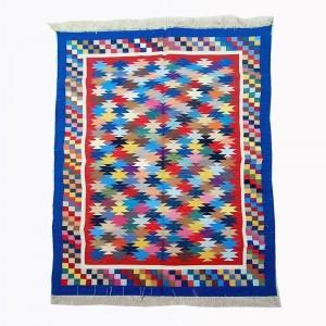 Kilim Wool Handwoven Cotton Dhurrie Durry Rug Jute Floor Covering Pattern 23