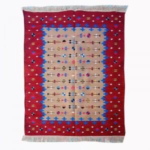 Kilim Wool Handwoven Cotton Dhurrie Durry Rug Jute Floor Covering Pattern 27