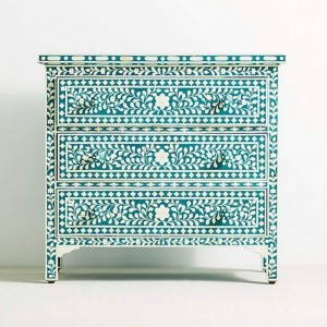 Maaya Bone Inlay Chest of Drawer sideboard Floral