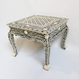 Maaya Bone Inlay Coffee Table Black White Geometric