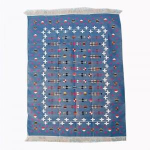 Kilim Wool Handwoven Cotton Dhurrie Durry Rug Jute Floor Covering Pattern 28