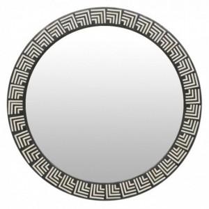 Maaya Round Bone Inlay Mirror Frame - Orleans 75x5x75cm