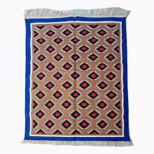 Kilim Wool Handwoven Cotton Dhurrie Durry Rug Jute Floor Covering Pattern 29