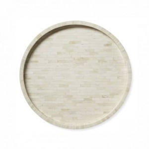 Maaya Full Bone Inlay Serving Tray -Round Tray  45x45x5cm