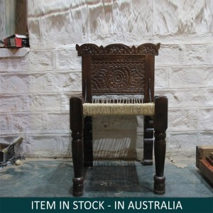 Indian Solid Wood Pida Chair Black