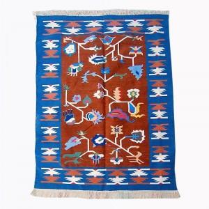 Kilim Wool Handwoven Cotton Dhurrie Durry Rug Jute Floor Covering Pattern 30