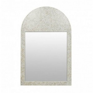 Maaya Bone Inlay Arch Mirror Frame - Cross Desgin 90x5x130cm
