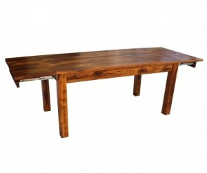 Boston Zen Contemporary Solid Woodend Extended Dinning Table