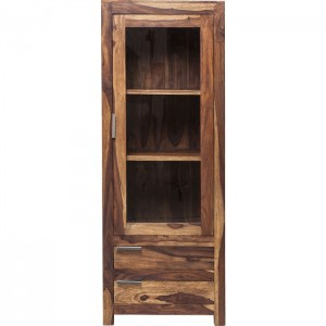 Boston Silver Contemporary Solid Wood Display Cabinet Bar Cabinet Tall 180 cm